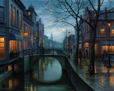 paint nite eugene rainy morning europe prints evgeny lushpin