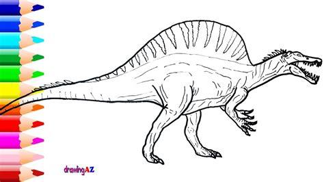 Dinosaur Coloring Pages Spinosaurus spinosaurus coloring pages printable coloring for 2018