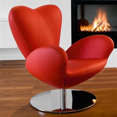 poltrona rossa heartbreaker poltrona design di tonon girevole