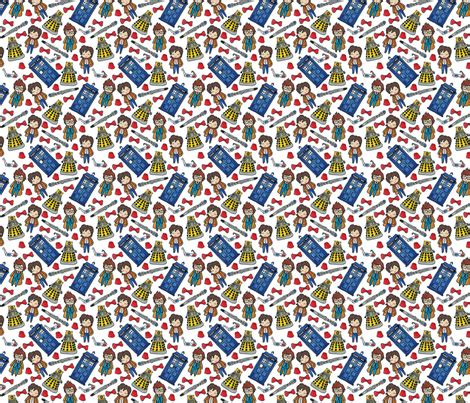 quirky pattern fabric hello quirky time lords fabric helloquirky spoonflower