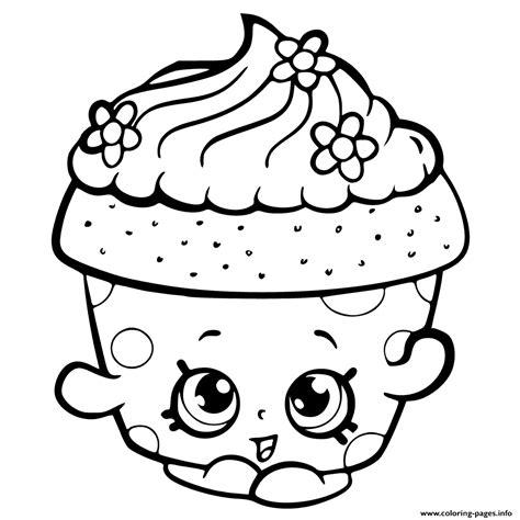 Shopkins Season 6 Cupcake Petal Coloring Pages Printable Shopkins Season 6 Coloring Pages