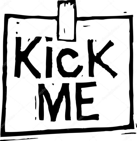 Me Me Me Signed - vector illustration of kick me sign stock vector