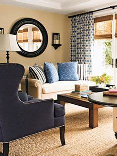 Beige And Navy Living Room by Navy Home Decor On Complimentary Colors