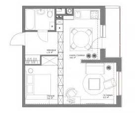 Small apartment plans under 500 square feet 50 square meters