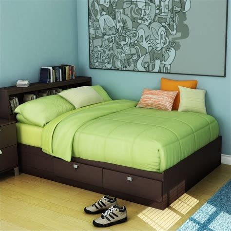 full bed frame with storage south shore cakao kids full storage mates bed frame only