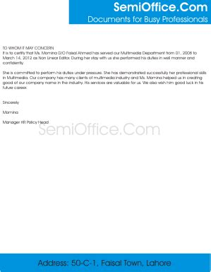 Experience Letter For Editor Experience Letter Format For Multimedia Operator And Non Linear Editor
