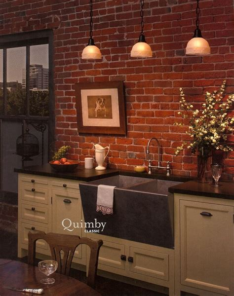 exposed brick kitchen home
