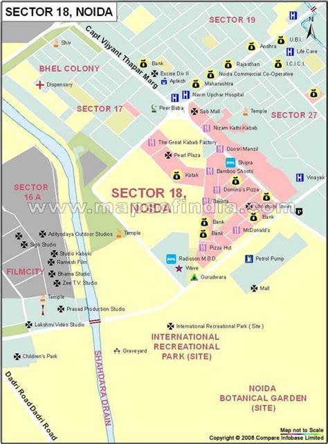 Sector 18 Noida Map
