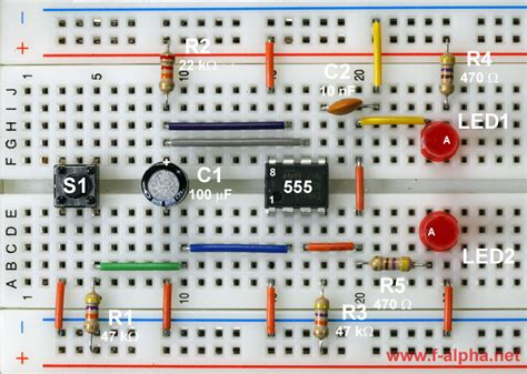 integrated circuit ic timers f alpha net experiment 11 monoflop