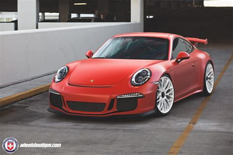 porsche matte matte red porsche 991 gt3 on hre p200 wheels my car portal