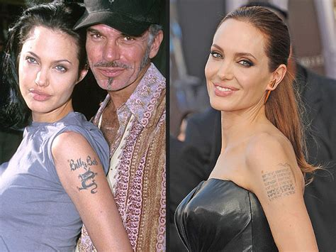 angelina jolie billy bob tattoo removal melanie griffith and more who