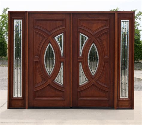 double door designs exterior mahogany double doors in antique cherry finish
