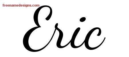 tattoo name eric lively script name tattoo designs eric free printout
