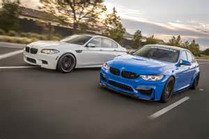 vorsteiner takes their bmw m3 and m5 for a photoshoot
