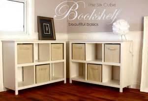 diy cube bookcase white 6 cube bookshelf diy projects