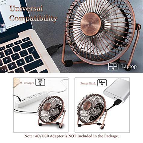Small Table Fan For Kitchen by Glamouric Small Usb Desk Fan Mini Metal Personal Fan Retro