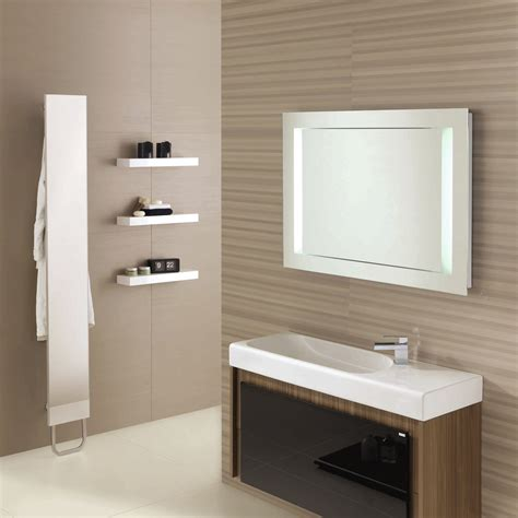 Excellent mounted wall installations vanity units with white sink under slick mirrors beside