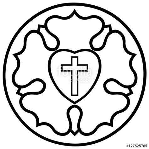 emblem black and white quot lutheran emblem luther seal black and white