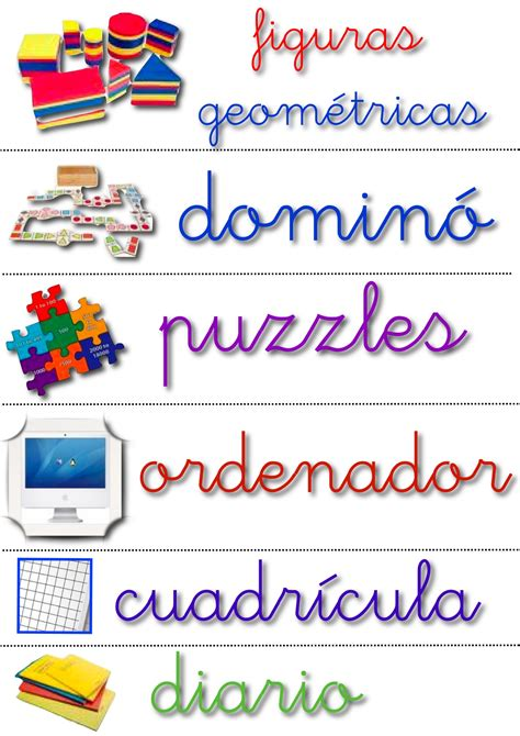 letreros de aulas en colegio materiales