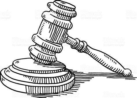 imagenes en blanco y negro de justicia gavel and soundblock justice drawing stock vector art