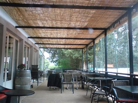 white metal l shade handmade set pergola and wood deck by steel