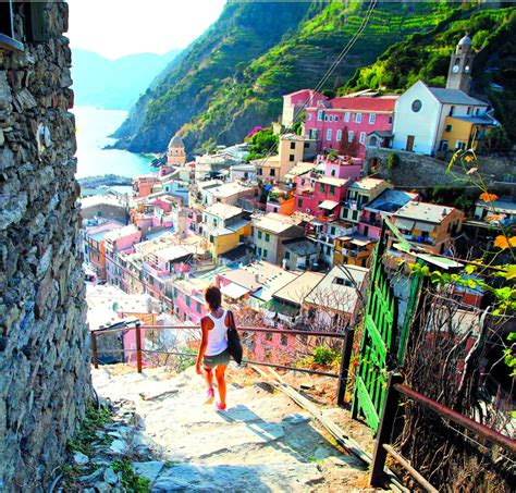 Small Villages by A Lovers Walk Hiking In The Cinque Terre Panoram Italia