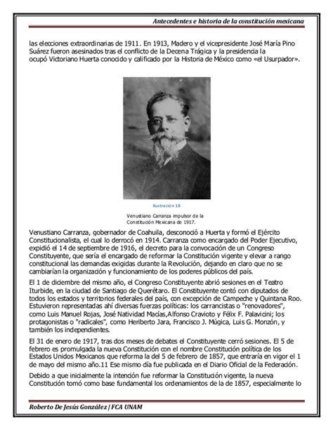 biograf a corta biograf a corta de venustiano carranza antecedentes e historia de la constitucion mexicana