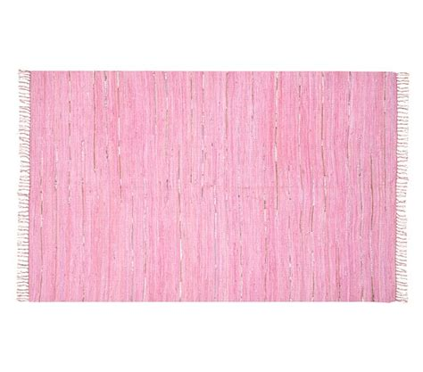 Pink Dhurrie Rug by Remy Metallic Dhurrie Rug Pink Pottery Barn