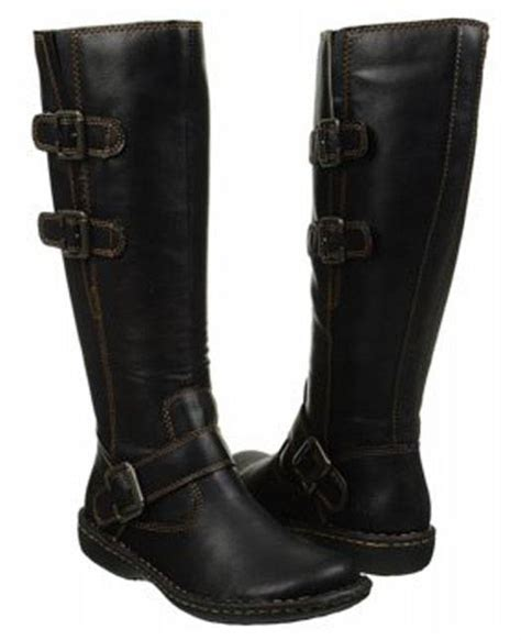 b o c by born rich leather look boots in black and brown