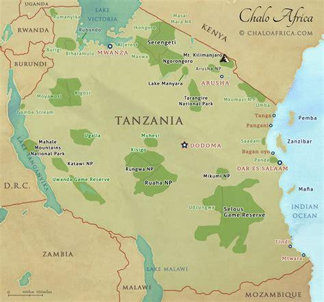 africa map tanzania tanzania safari tours a guide chalo africa