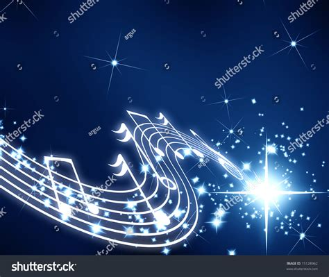 Syfa Navy musical notes on a blue background stock photo