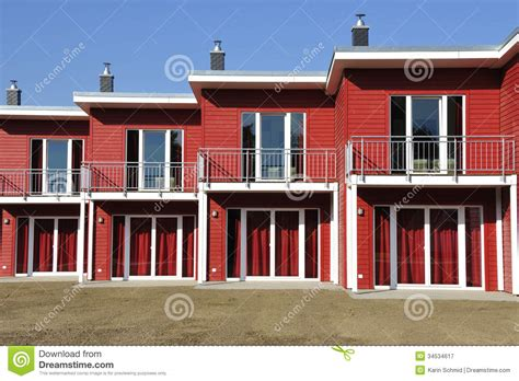newly built red terraced house front view stock image image 34534617