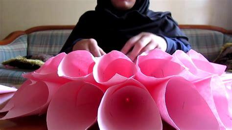 youtube membuat bunga dari kertas cara membuat bunga dari kertas youtube