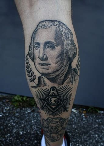 george washington tattoo dave wah artist baltimore maryland
