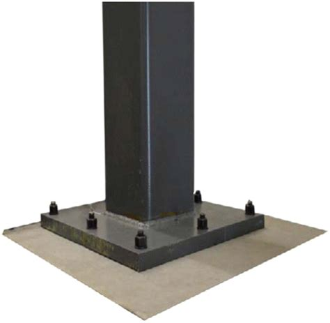 steel column section column base connections for hollow steel sections seismic