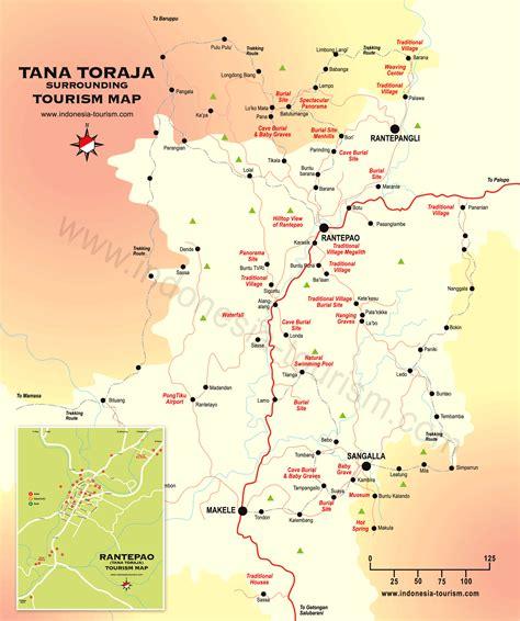 tana toraja tourism map