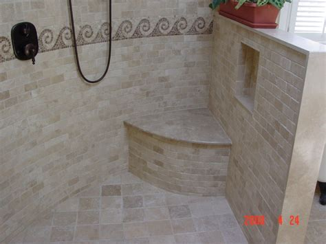 Open Shower Bathrooms Open Shower Design Traditional Bathroom Newark By
