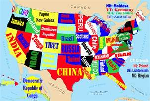 this map shows the united states if each state were named