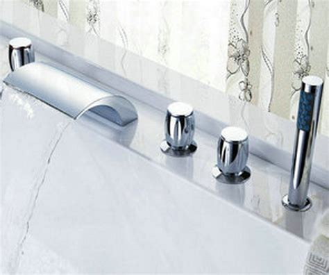 big waterfall bathroom ceramic valve tap chrome sink tub