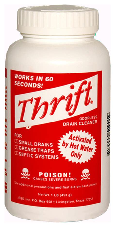 Thrift Plumbing Supplies by Thrift Drain Cleaner Alkaline Based T 200 Traditional