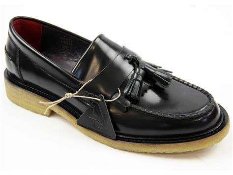 crepe sole loafers delicious junction rudeboy mod crepe sole tassel loafers black