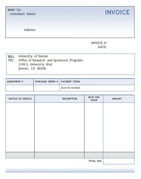invoice template in word consultant invoice template word robinhobbs info