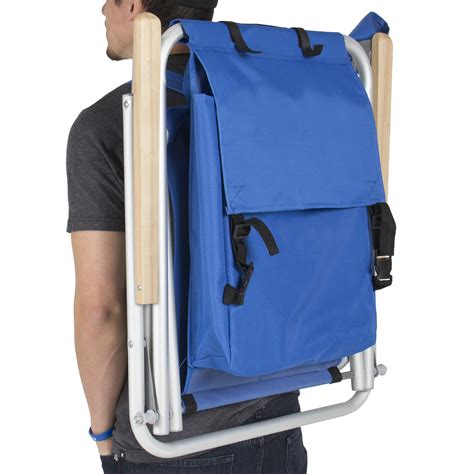 backpack chair folding portable chair blue solid