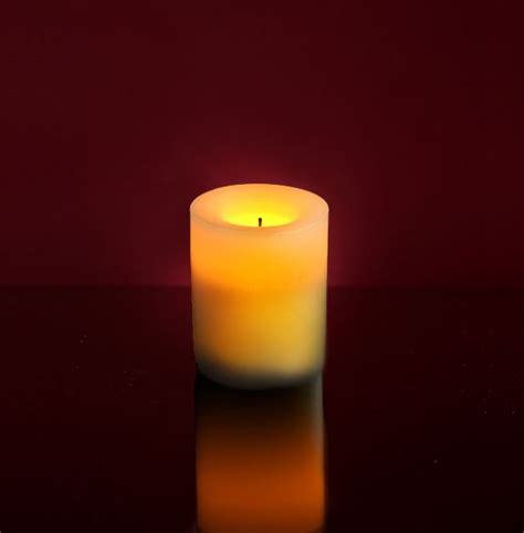Battery Candles Battery Operated 1 000 Hour Pillar Candle 4 Quot