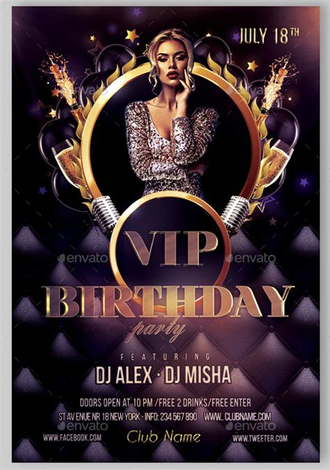 Birthday Flyers Templates by Birthday Flyer Templates 35 Free Psd Ai Vector Eps