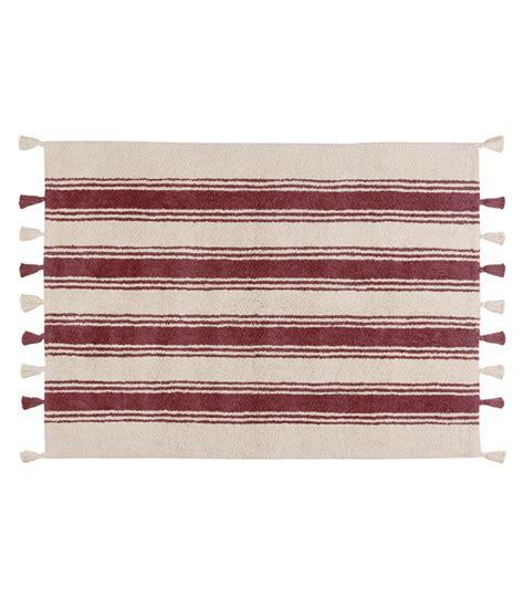 tappeti a righe tappeto lavabile a righe marsala