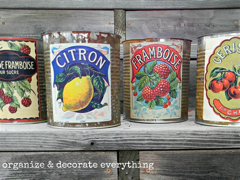 vintage dosen how to make vintage cans organize and decorate everything
