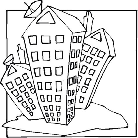 high rise 3 coloring page