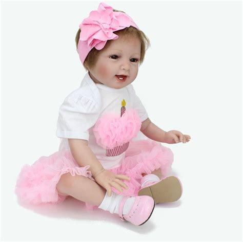 Baby Pink Newborn Babydoll Set 22 handmade lifelike baby doll soft vinyl reborn