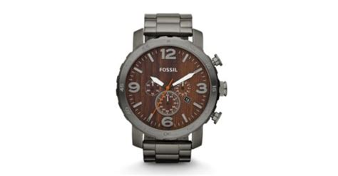 Nate Chronograph Smoke Stainless Steel Watch Fossil